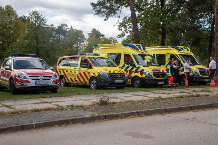 Ein Großaufgebot an Rettungskräften raste zum Einsatzort.
