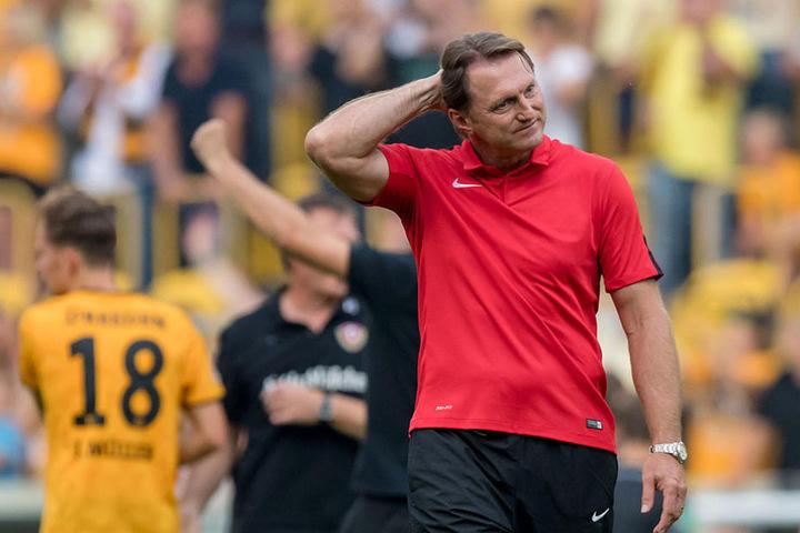 Hasenhüttl war nach der Niederlage in Dresden merklich angefressen.