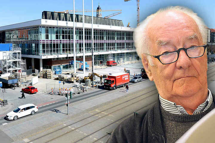Der Architekt des Dresdner Kulturpalastes, Wolfgang Hänsch. Er verstarb 2013 mit 84 Jahren.
