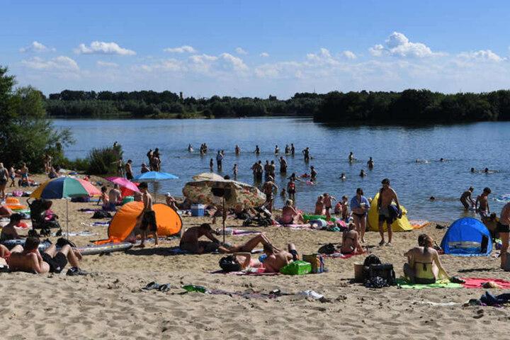 Im Lippesee kann man bei sommerlichen Temperaturen herrlich baden.