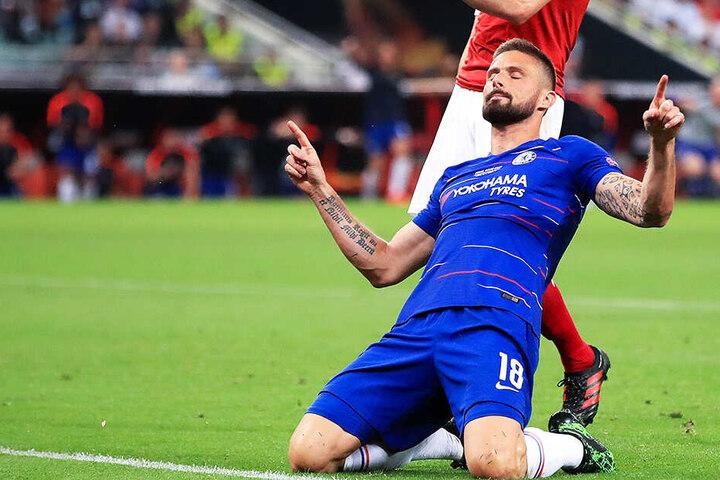 Machte ein starkes Spiel: Olivier Giroud traf für den FC Chelsea gegen seinen Ex-Klub Arsenal und war auch sonst an vielen gefährlichen Offensivaktionen beteiligt.
