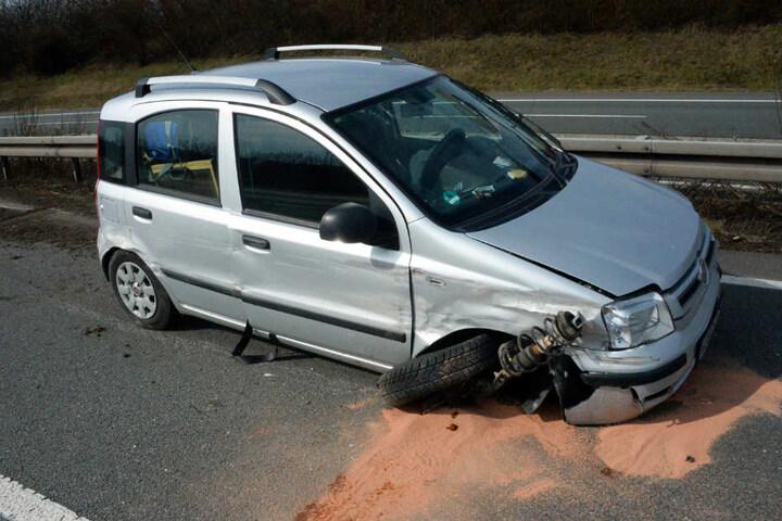 Der Fiat musste abgeschleppt werden.