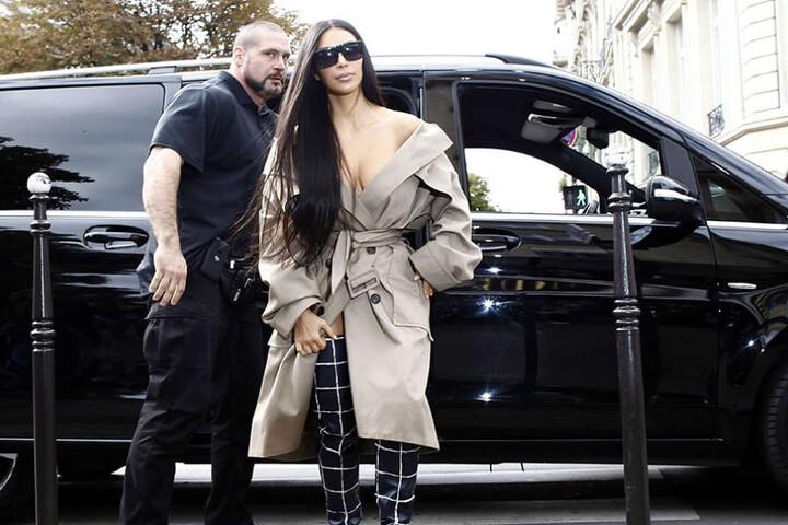 Kim Kardashian kurz vor dem Raubüberfall in Paris.