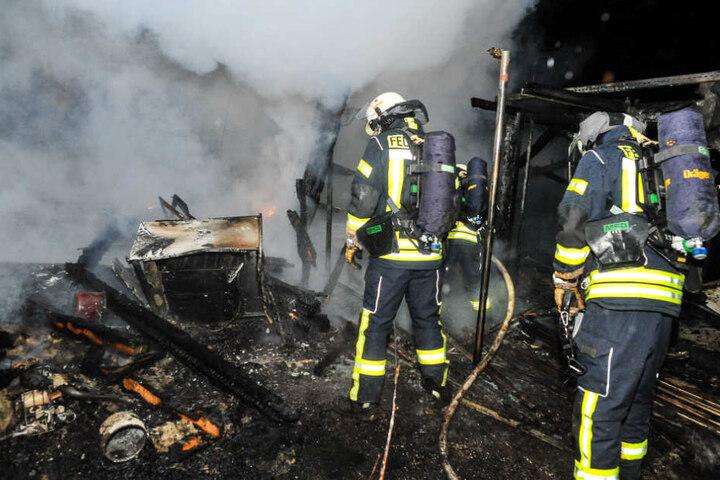 Nach rund einer Stunde war das Feuer gelöscht.