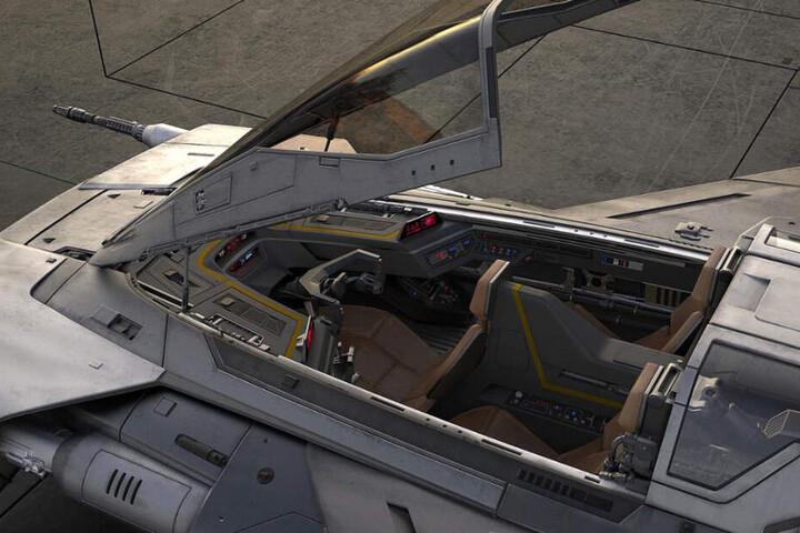 Blick ins Cockpit.