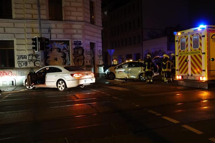 Mitten in der Nacht schepperte es in der Leipziger Südvorstadt.