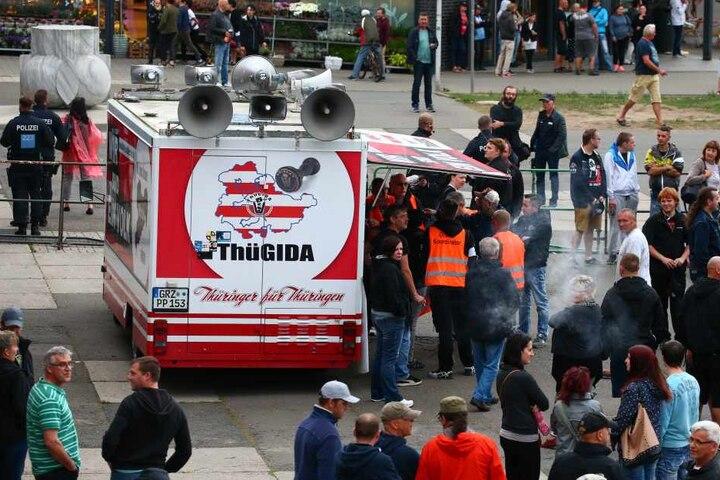 Thügida ruft, wie hier in Gera, immer wieder zu Demonstrationen auf.