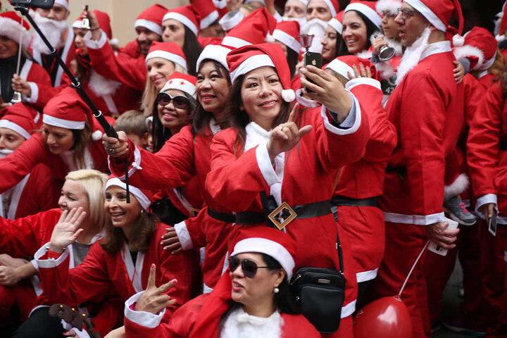 Am Sonntag findet der erste Santa Run in Bielefeld statt. (Symbolbild)