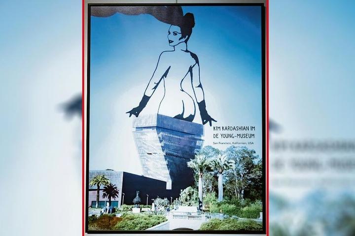 Bildschön: Der Hintern von Kim Kardashian im Museum.