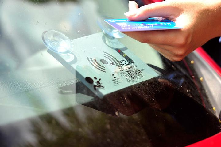 Zum Öffnen der Autos benötigt man eine Kundenkarte.