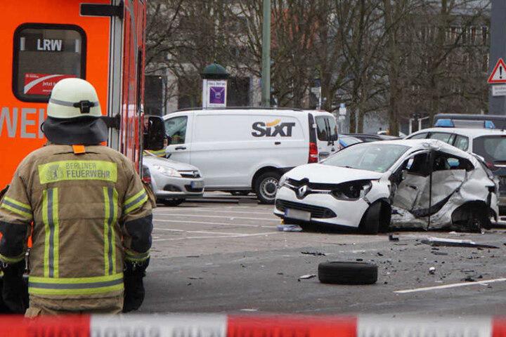 Das Auto der getöteten Frau auf der Grunerstraße.