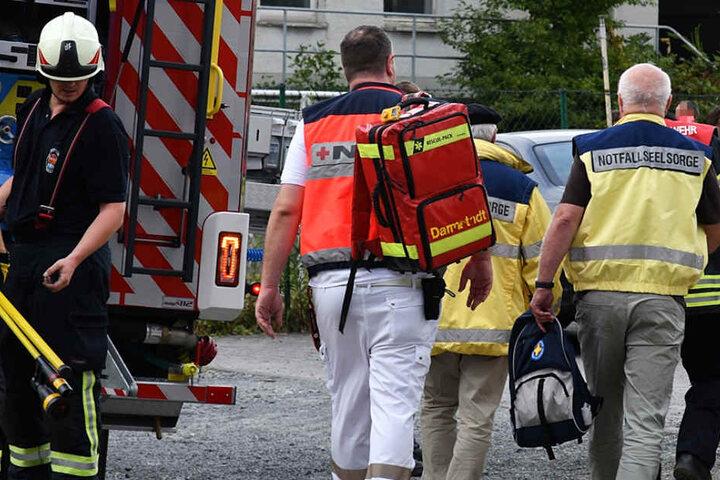 Auch Notfall-Seelsorger waren vor Ort.