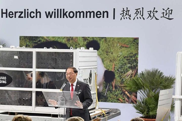 Der chinesische Botschafter in Deutschland, Shi Mingde am 24.06.2017 in Schönefeld.