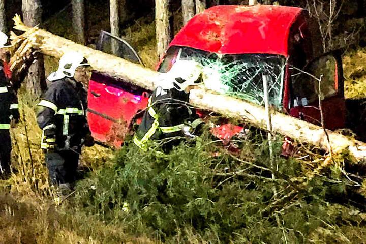 Der Fahrer soll bei dem Unfall schwer verletzt worden sein.