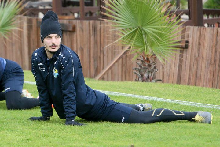 Philipp Hosiner hat den Blick schon auf das Spiel gegen Viktoria Köln gerichtet.