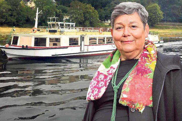 """Flottenchefin Karin Hildebrand (63) hat das Motorschiff """"Bad Schandau"""" verkauft."""