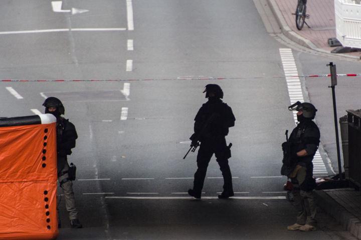 Ein Großaufgebot von Polizei und Sonderkräften war vor Ort.