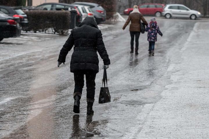 Auch in Straubing sind die Straßen gefroren.
