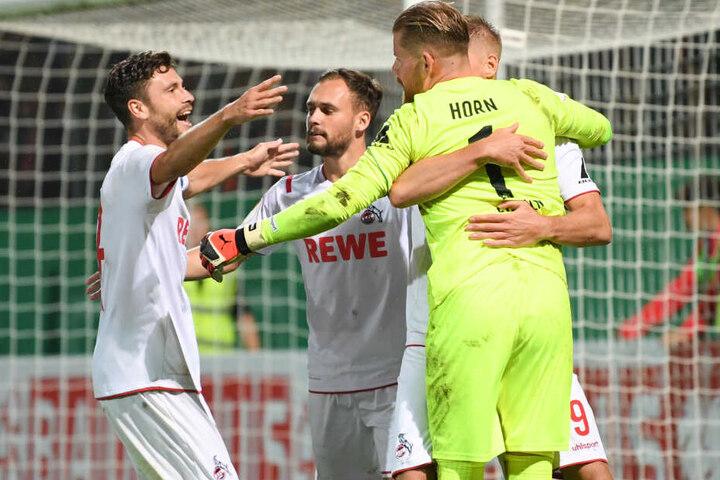 Torhüter Timo Horn hielt drei Elfmeter für den 1. FC Köln.