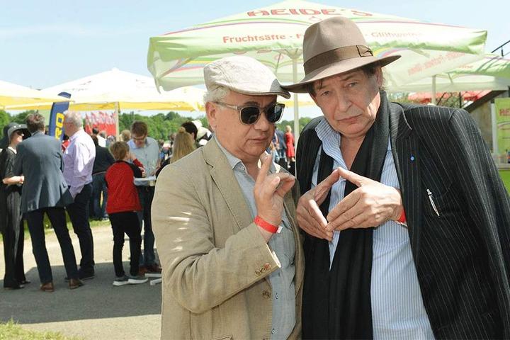Verabredeten ein Kunstrennen: Kabarettist Tom Pauls (l.) und Maler Holger John.