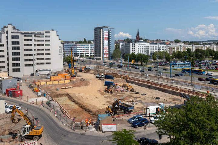 Neben der Zentrale von Eins Energie ist ein neues Hotel am Johannisplatz geplant.