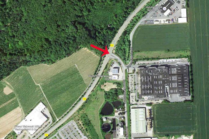 An der Einmündung Eugen-Diesel-Straße kam es zu dem Auffahrunfall.