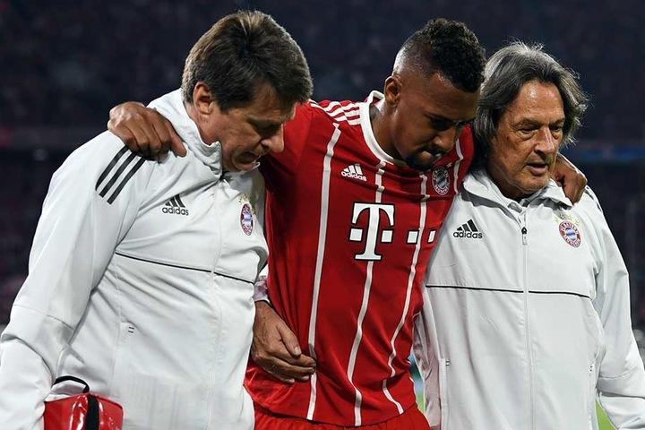 Jerome Boateng musste bereits Mitte der ersten Halbzeit verletzt ausgewechselt werden.