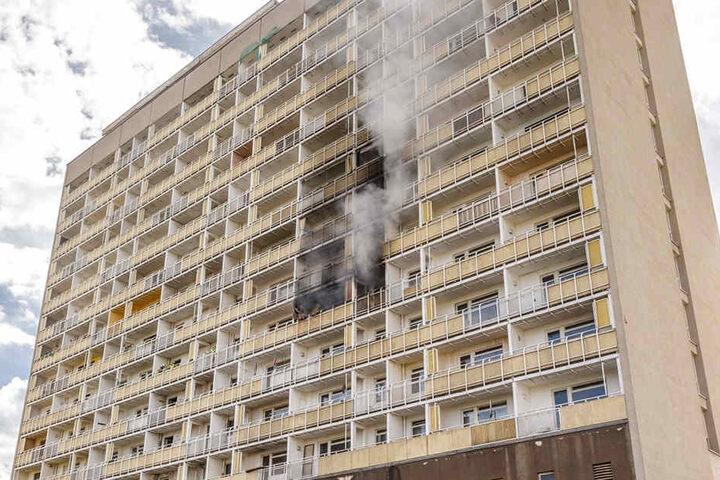 Am 25. Mai brannte es in dem Hochhaus.