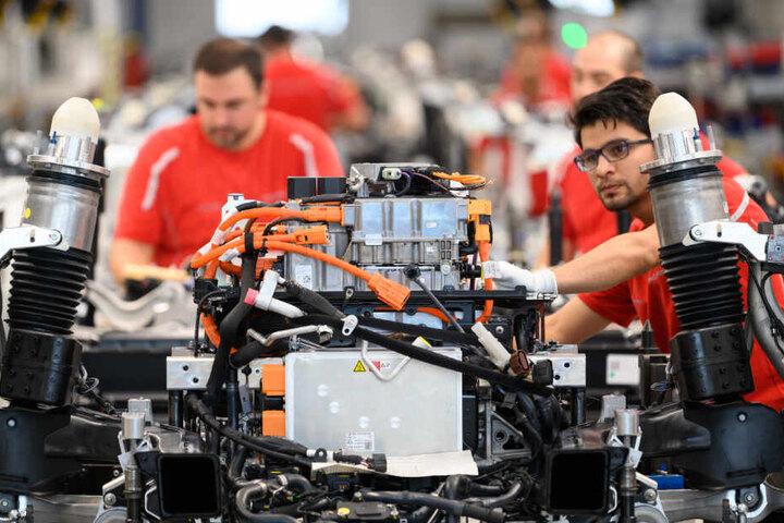 Die Produktion von Porsche in Stuttgart. (Symbolbild)