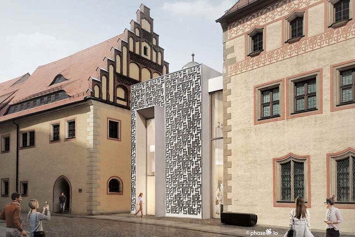"""So soll der 3 Millionen Euro teure Zwischenbau einmal aussehen. Er soll das Thema """"Silber"""" nach außen tragen."""