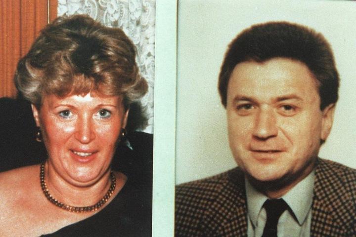 Polizeifotos zeigen die 46 jährige Ingrid W. aus Uelzen und ihren 43-jährigen Freund, Bernd-Michael K. aus Hannover, die in einem Waldgebiet bei Göhrde im Juni 1989 ermordet wurden.