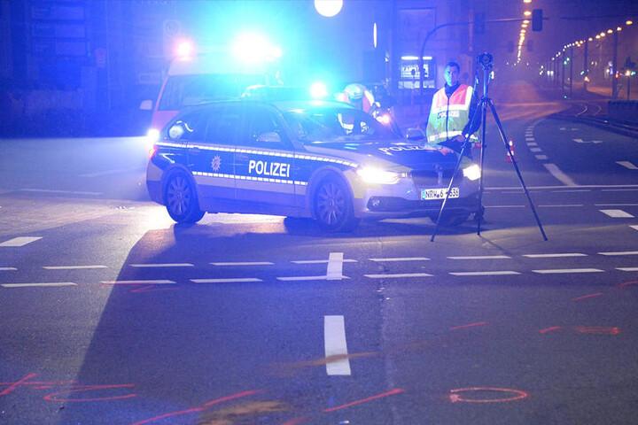 Die Polizei Bielefeld sicherte die Unfallstelle ab.
