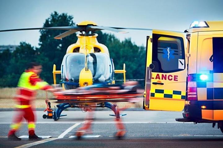 Der Hubschrauber hatte zuvor einen Schwerkranken in ein Krankenhaus gebracht. (Symbolbild)