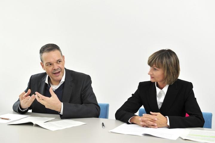 Christoph Dittrich und OB Barbara Ludwig (54, SPD) legen das neue  Theaterkonzept am 9. November dem Stadtrat vor.