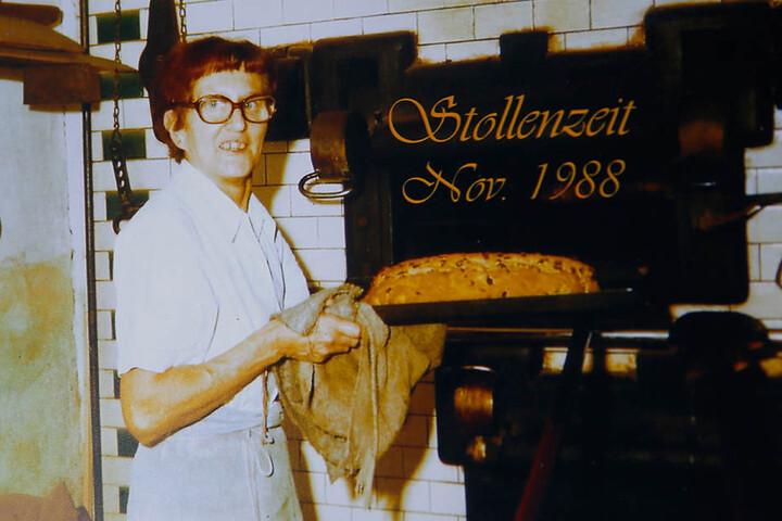 Die Bäckermeisterin versüßte ihren Kunden auch die Weihnachtszeit.