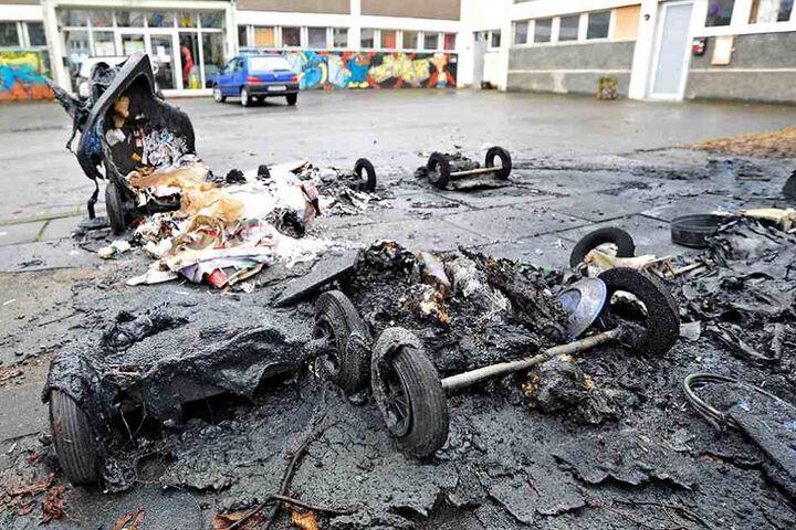 Furchtbare Feuer in Gablenz: Brandstifter schlugen seit November schon 14 Mal zu.