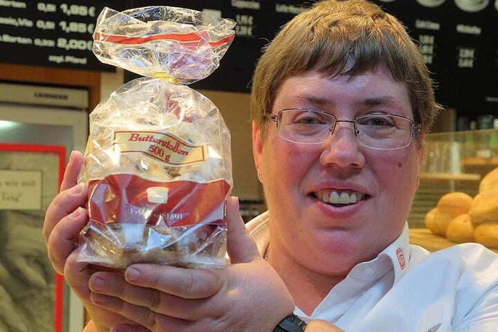 Madlen Müller (37) von der Wiener Feinbäckerei in der Altmarkt-Galerie gibt dicke Prozente auf Butterstollen.