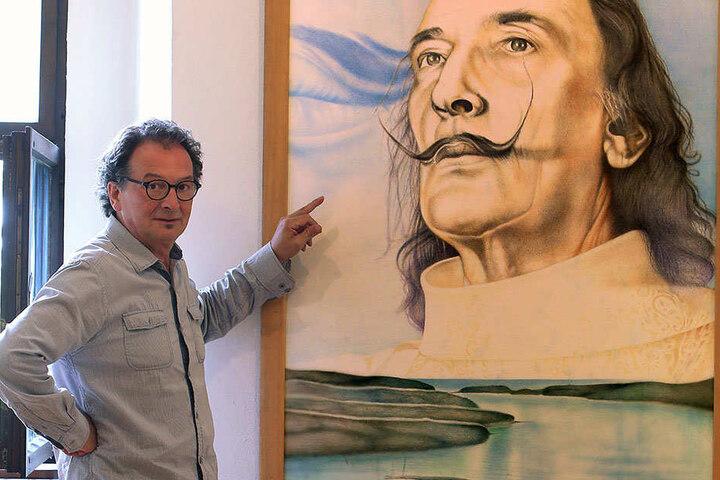 Thorsten Dahlberg (60), Leiter der Kunstsammlung Glauchau, ist stolz auf die Ausstellung.