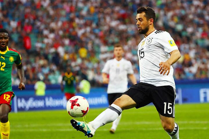 Erzielte in fünf Länderspielen für Deutschland zwei Tore: Amin Younes (r.).
