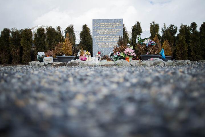 Die Gedenkstätte für die Opfer des Flugzeugabsturzes des Germanwings Fluges 4U 9525 in Le Vernet.
