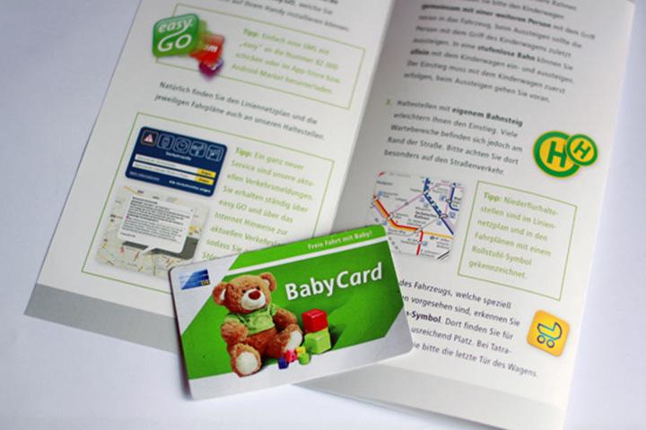 In Leipzig ermöglicht bereits eine BabyCard ein Jahr lang kostenlose Fahrten.