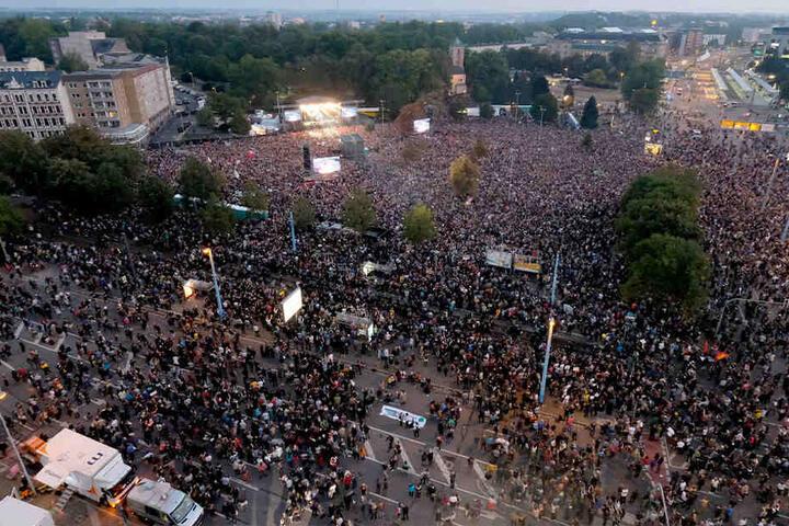 Das Mega-Konzert #wirsindmehr im Herbst 2018 war eine Reaktion auf die Nazi-Aufmärsche in Chemnitz.