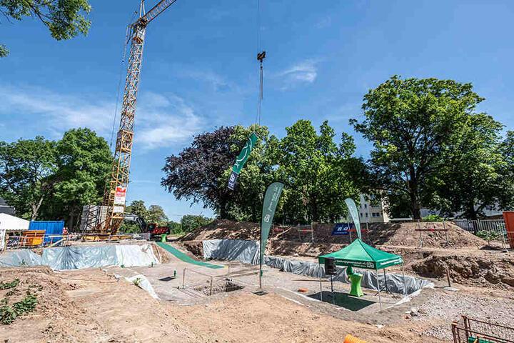 Noch klafft zwischen Hohe Straße und Kaßbergstraße ein großes Baufeld. Mitte 2021 soll aber alles fertig sein.