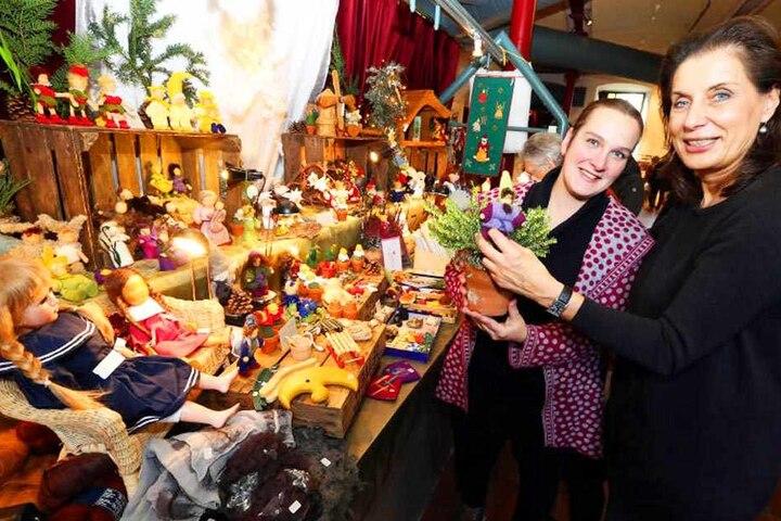 Der vorweihnachtliche Markt in der Ravensberger Spinnerei lockt mit bunten Handwerkskreationen.