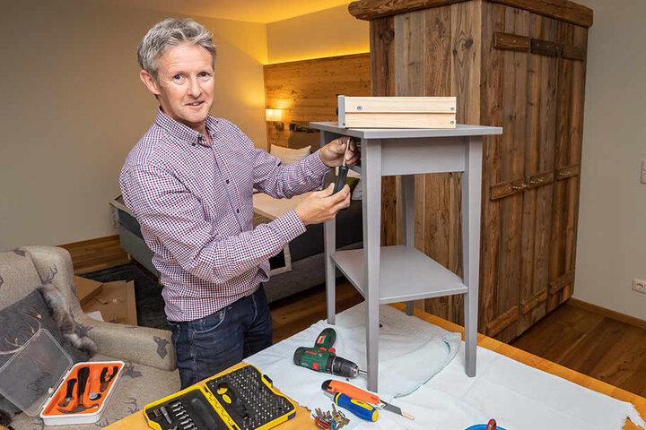 Selbst ist der Mann: Jens Weißflog hat auch handwerkliches Talent.