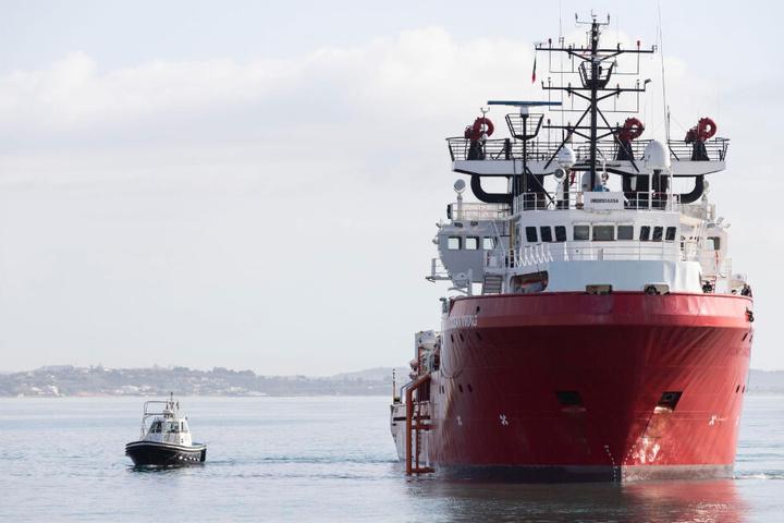"""Das Rettungsschiff """"Ocean Viking""""."""