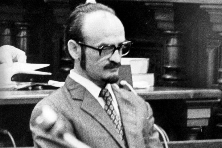 Fritz Honka 1976 vor Gericht.