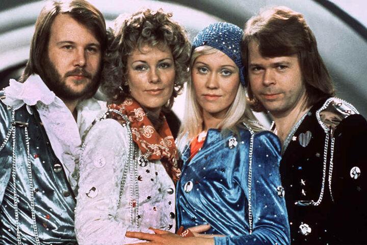 Die Mitglieder der schwedischen Popgruppe ABBA (v.li.): Benny Andersson, Annafrid Lyngstad, Agnetha Fältskog und Björn Ulvaeus.