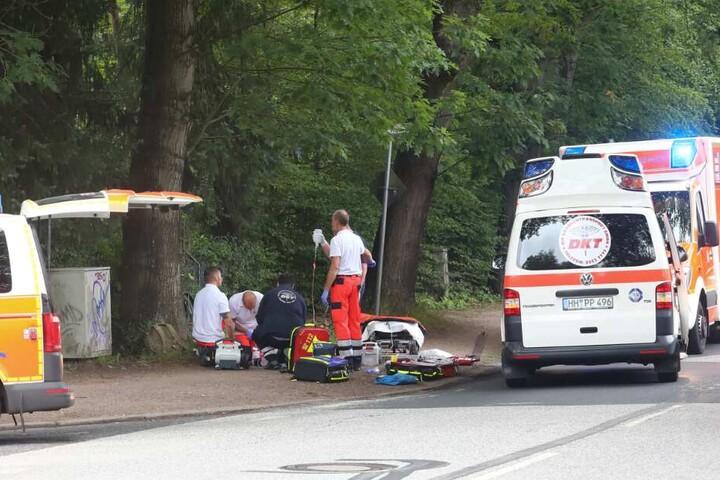 Der 40-Jährige schwebt nach dem Crash in Lebensgefahr.