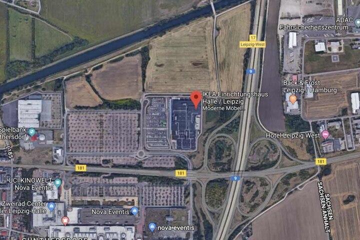 In dem Gebiet zwischen Ikea, dem Kanal, dem ADAC und der Autobahn wurde am Dienstag gesucht.